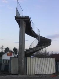 escalier pont churchill strasbourg