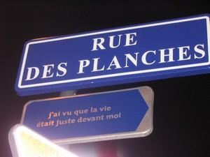 Panneau rue de Strasbourg.